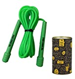 The Dance Bible Slim Jump Ropes for Fitness - Tangle Free Skipping Rope for Men, Women and Kids...