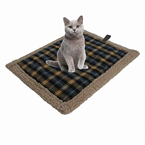 POSEAGLE Small Self Heating Lamb Plush Cat Dog Mattress Waterproof Warm Pet Pad