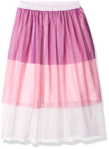 Amazon Brand - Spotted Zebra Kids Girls Midi Tutu Skirt, Pink Multi, Small
