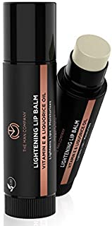 The Man Company Lightening Lip Balm with Vitamin E, Coconut & Olive Oil | Provides Lip Care to Dry, Chapped, Dark and Smok...