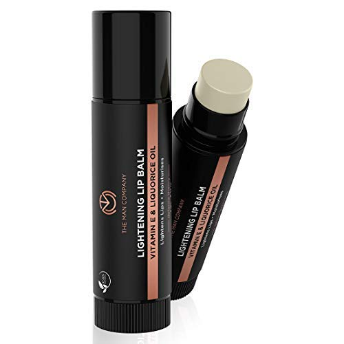 The Man Company Lightening Lip Balm with Vitamin E, Coconut & Olive Oil | Provides Lip Care to Dry, Chapped, Dark and Smoky Lips | Moisturizes, Nourishes, Soften Lips - 4gm
