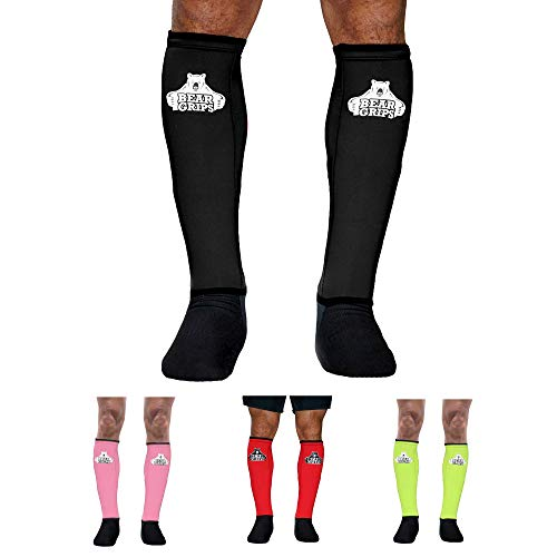 Bear Grips Shin Guards Sleeves 2.0 New 2021 with 5mm of Padded Leg...