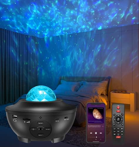Vidéo Projecteur LED, Amouhom Veilleuse étoile Lampe de Rotatif...