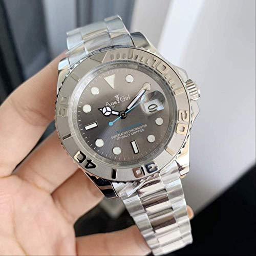 GFDSA Herren Automatik Mechanisch Schwarz Keramik Lünette Blau Edelstahl 116622 Yacht Perpetual Watch Master Saphir Grau