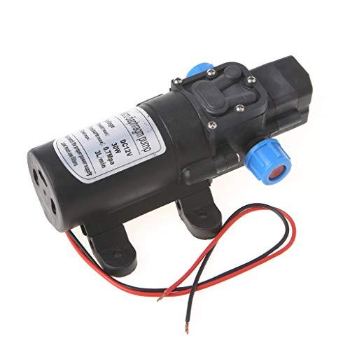 Kuvuiuee Wasserpumpe DC 12V 30W 0142 Motor Hochdruck Membran Wasser Selbstansaugende Pumpe 3L / Min