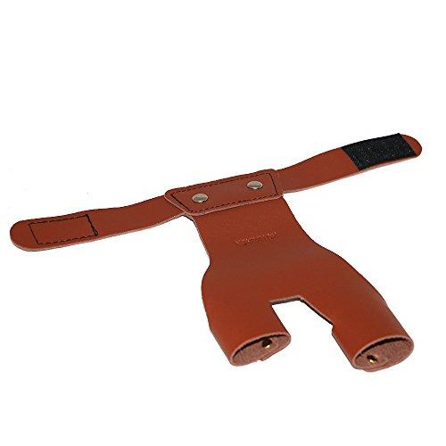 Toparchery Tiro con Arco Protector de Mano Izquierda Guante de Tiro marrón