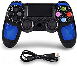 Controller for PS4, Wireless Game Controller for PlayStation 4/Pro/Slim/PC, Wireless controller Gamepad with Led Touch Pad...