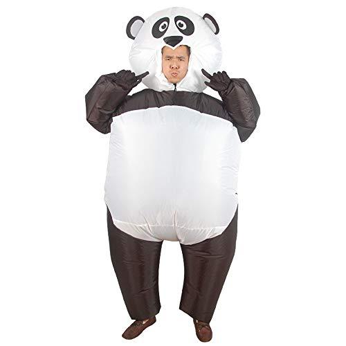 HSDCK Maskottchen Schöne Aufblasbare Cartoon Panda Cosplay Halloween Lustige Kostüm Blow Up Anzug für Erwachsene (150-190 cm) Weiß