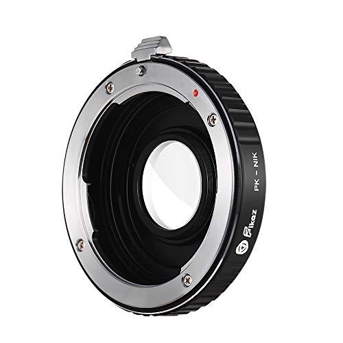 Docooler Objectiv - Adaptador para Objetivo Pentax PK para cámaras Nikon F-Mount D3300, D3400, D3500, D500, D5300, D5500, D5600, D600, D700, D7000, D700, D700, D700, D750, D760, D800, etc.