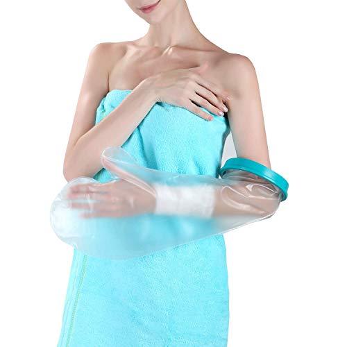 Wasserdichter Gipsschutz Arm, Verbandschutz Unterarm Erwachsene Für Gebrochener Hand, Handgelenk, Ellbogen, Finger, Wiederverwendbar Gips Duschschutz Bandagen Wunden und Verband Trocken Halten