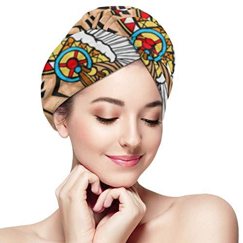 XBFHG Envolturas de toallas de microfibra para el cabello...