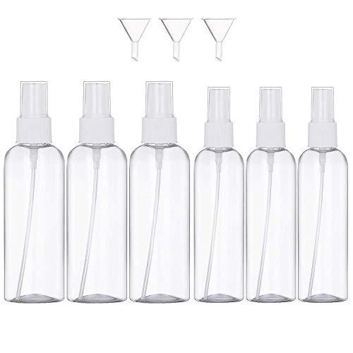 GeekerChip Spray Trasparente Plastic Fine Nebbia Bottiglia[9 Pezzi],Bottiglie vuote 50ml + 100ml con Pompe Atomizzatore per Viaggi Profumi
