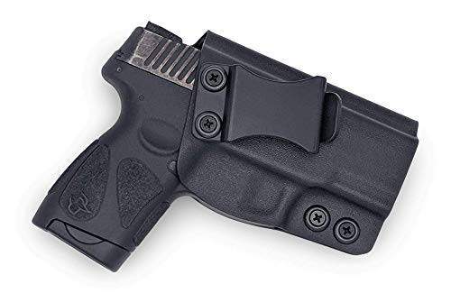Concealment Express KYDEX Holster Compatible with Taurus 111/140 Millennium G2 / G2C / G2S IWB KYDEX Holster Black/Right Hand/User Adjustable (-5 to +20°)