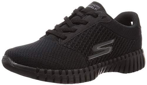 Skechers GO Walk Smart Influence, Zapatillas Mujer, Ribete Textil Negro BBK, 37 EU