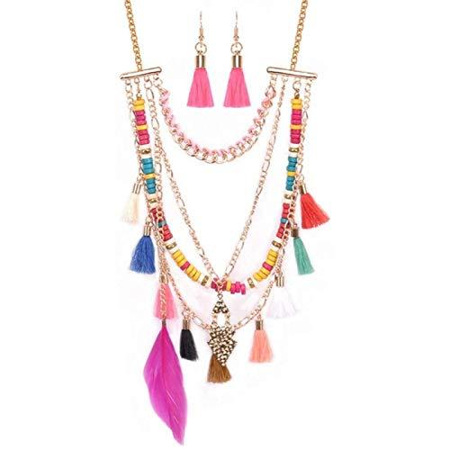Schmuck Set Frauen Böhmische Handgemachte Perlen Lange Anhänger Halskette Und Ohrringe Schmuck Sets Für Jeden Anlass Brautschmuck Set