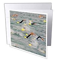 Danita Delimont–Swimming–Swimming軌跡、トライアスロン軌跡、モンタナ州湖–us27cha1173–チャックHaney–グリーティングカード Set of 6 Greeting Cards