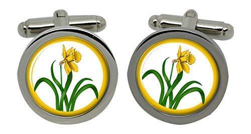 County Glamorgan Badge Chromé Boutons de manchette pour homme avec coffret cadeau
