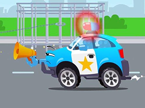 Polizeiauto Arbeiter des Tages