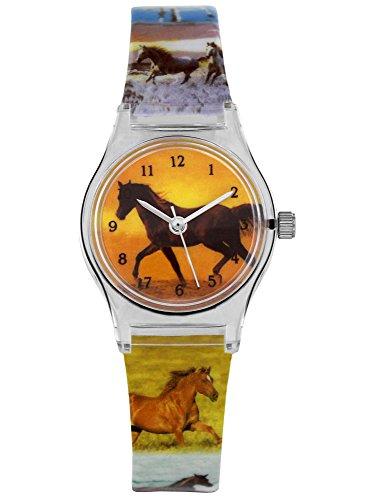 Unbekannt Kinderuhr / Armbanduhr - Pferde & Tiere - mit Armband