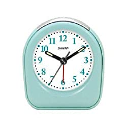 Sharp Quartz Analog Mint Ascending Alarm Clock Battery Operated from