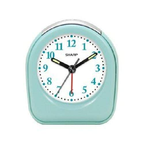 Sharp Quartz Analog Mint Ascending Alarm Clock Battery Operated from