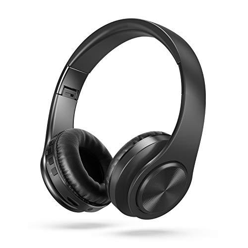Kabellose Fernseher Funkkopfhörer, Jelly Comb Funkkopfhörer Over Ear Digitale Kopfhörer mit 2.4GHz Verbindung, Wiederaufladbar TV Kopfhörer für TVs/AV Receiver/PC/Laptop/Handy, Schwarz