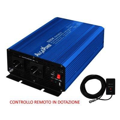 ALCAPOWER Inverter Sinusoidale Onda Pura 1500W Inp. 12V DC out 220V AC