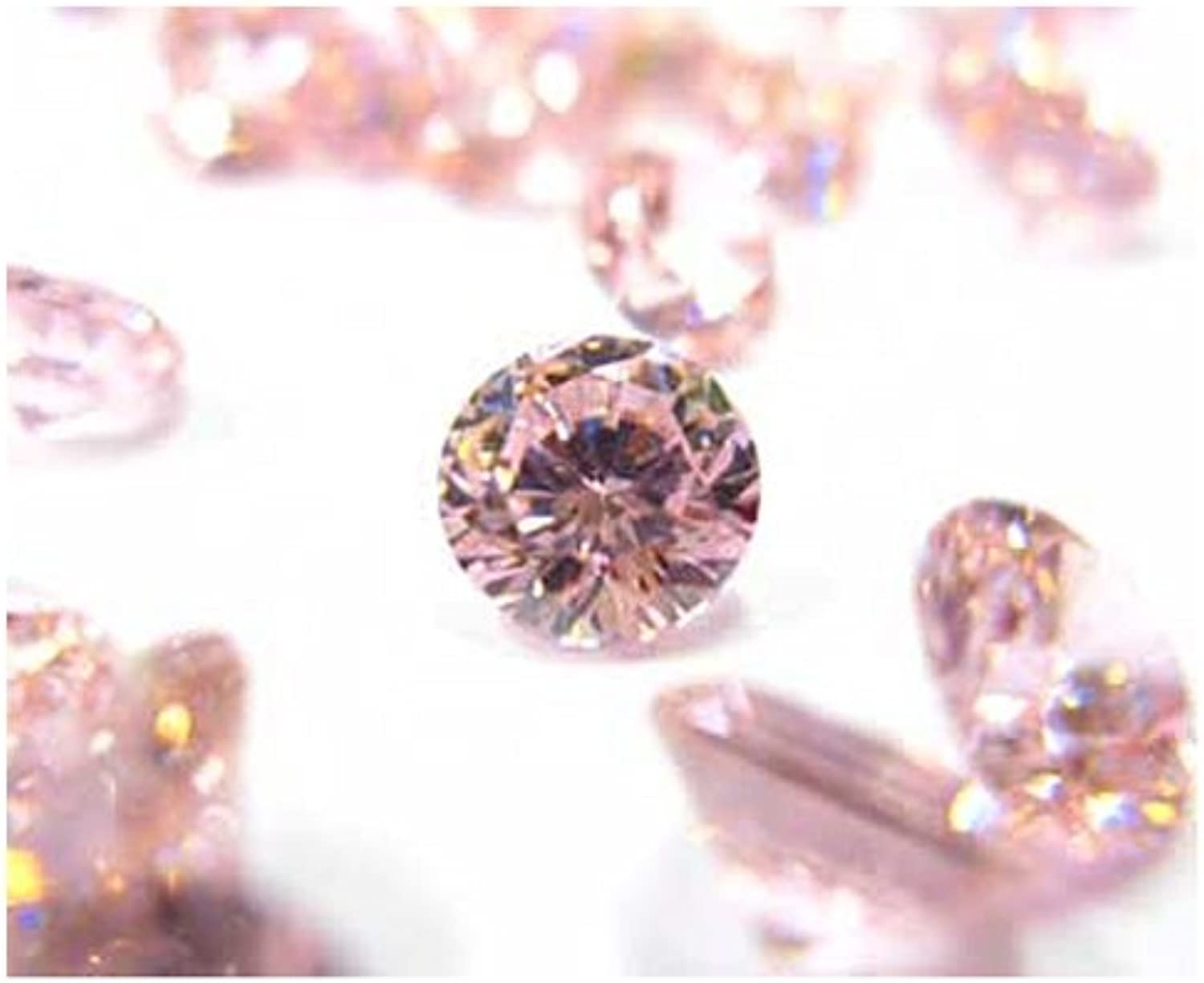 Synthetic Stone Round Cut Pink 5 pcs 2mm 32244017