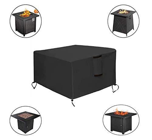 Feuerstelle Abdeckung Quadrat, Möbelabdeckungen Patio 45x45x25 Zoll, 420D Heavy Duty Cover Stoff