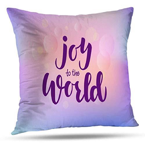 Joy Pillowcase Fundas de Almohada Joy Lettering Good Banner Flyer Tarjeta de felicitación Cojín Cuadrado para sofá Sofá Cama Poliéster Joy World