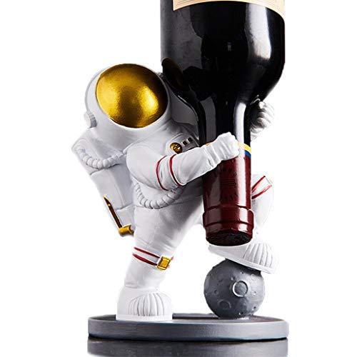 Rouges De Vin Rouge Estronaute Figurines Meubles Résine Spaceman Ornements Vin Titulaire Lumière Lumière Luxe Ménage Bouteille De Vin Discorations Anniversaire Cadeau d'anniversaire Artisanat