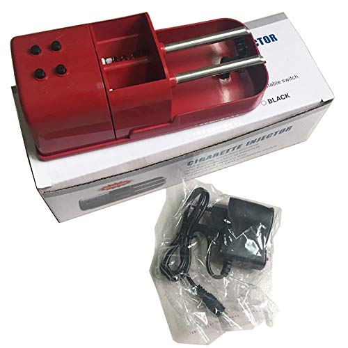 MQYZS Máquina de Cigarrillos eléctrica Bricolaje Antideslizante Base de Cigarrillos automáticos con Mini Tubo con Doble Tubo,Red