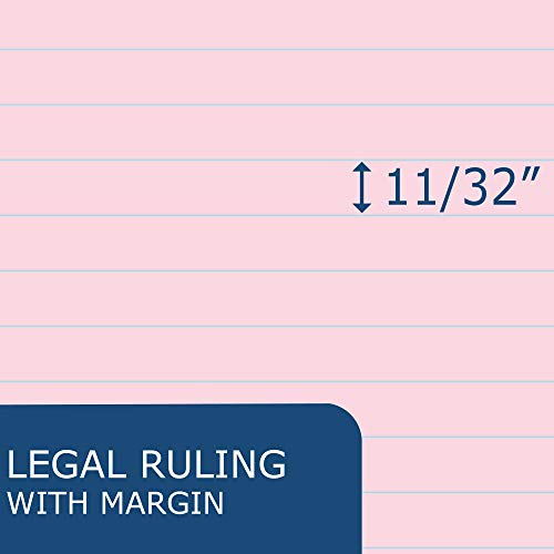 """Roaring Spring Enviroshades 8.5"""" x 11.75"""", 50 sheets of 16# Recycled Pink Legal Pads, 3/pack Photo #6"""