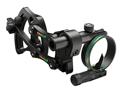 Truglo Pendulum Adjustable Bracket 1-Pin Sight .019' Black