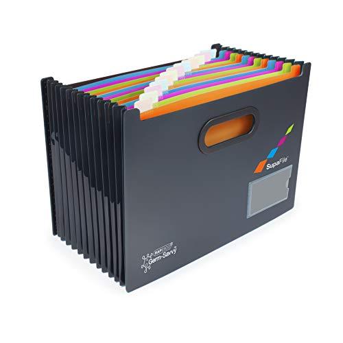Rapesto Organizador de archivos con 13 compartimentos, Germ-Savvy Supafile A4