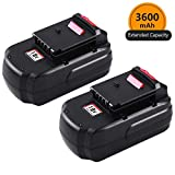 [Upgraded to 3600mAh] 3.6Ah Ni-MH PC18B Replacement for Porter Cable 18V Battery PCC489N PCMVC PCXMVC Porter-Cable PC18B-2 18-Volt Cordless Tools Batteries 2 Packs