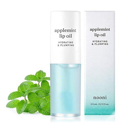 NOONI Applemint Hydrating Lip Oil | Korean Lip Oil To Soothe Dry Lips | Korean Skincare, Vegan, Cruelty-free, Paraben-free, Mineral-Oil free