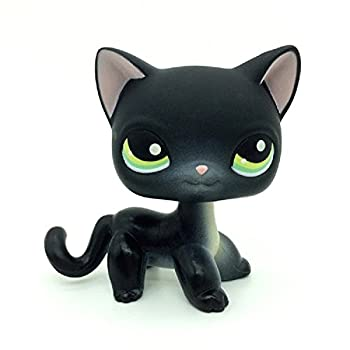 Small pet Shop Collection lps Toys #336 Black Short Hair Kitty Cat Loose Toy