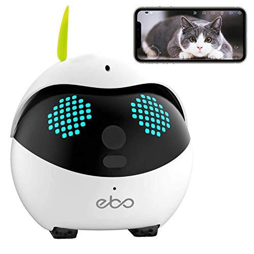 Enabot Ebo Familybot Robots de vigilancia de Seguridad, cámara Inteligente para Mascotas, cámara IP, Video en Vivo de Petpal, compañero de Mascotas