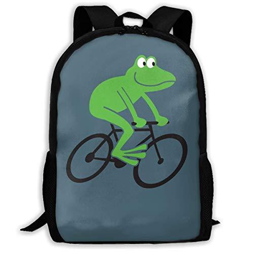 ADGBag Frog Riding Bike Fashion Outdoor Shoulders Bag Durable Travel Camping for Kids Backpacks Shoulder Bag Book Scholl Travel Backpack Sac à Dos pour Enfants