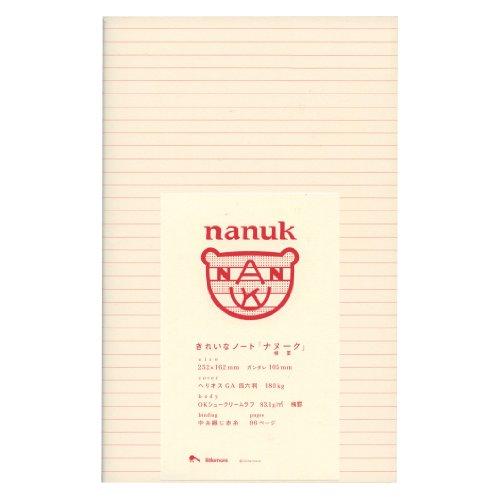 きれいなノート nanuk RED(ナヌーク レッド) 罫線