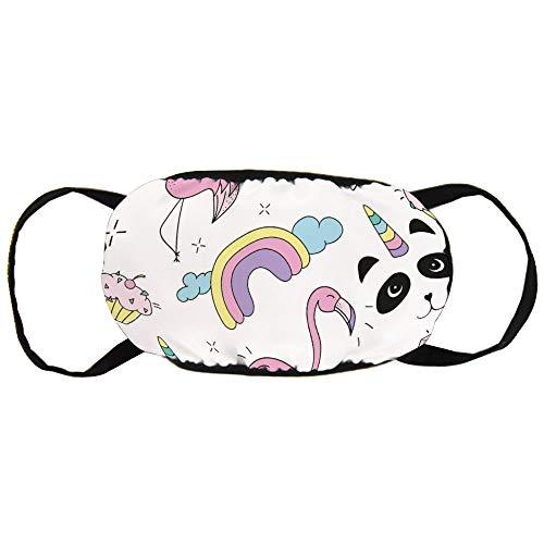 Stofvervuilingsmasker, Gekleurde Flamingo, Diamant en Beker Taart, Zwart Oor Pure Katoen masker, Geschikt voor Mannen en Damesmaskers