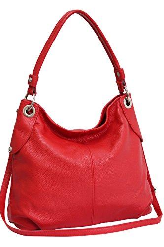 AMBRA Moda bolso de las mujeres, bolso de mano,bolso de hombro, shopper GL012 (Rojo)