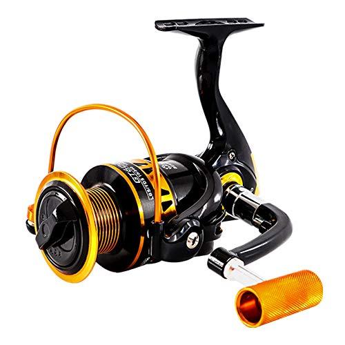 JIANING 11+1BB 釣り 海釣り 川釣り 入門用 小型 釣り具 スピニングリール GT 500 2000 3000 4000 5000 6000 7000 (GT500)