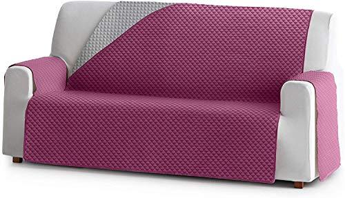 Reversibler Sofaschoner ELENA, 3 Sitzer, gefütterter Schutz für Sofas Farbe Malve 02