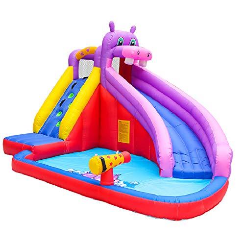Casa de rebote, toboganes de agua inflables grandes para la casa de rebote de patio trasero con soplador, actividades acuáticas de 3 a 12 años de edad parque del castillo del castillo de los niños