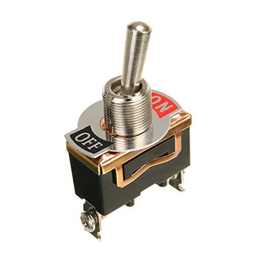 HSHUIJP Estilismo de automóviles y Accesorios corporales 5pcs Power SPOR SPST Rocker Switch 2 Pin Heavy 15A 250V N/Off Rocker Toggle Interruptor con Tapa de Arranque Impermeable Automotriz