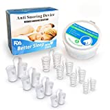 8PCS Anti Snoring Devices, Anti Snoring Solution, Snore Mute Nose Sleep Vents by MERCHR, Nasal Dilator for Breathing