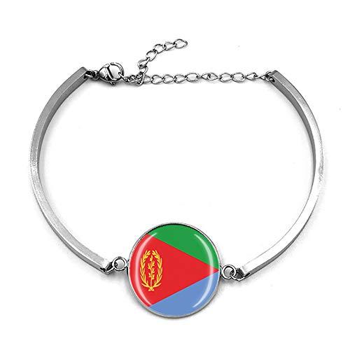 Eritrea Flag Style Adjustable Bracelet Travel Souvenir Gift Fashion Wristband