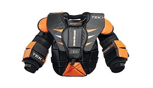 PowerTek V5.0 Barikad Adult Men's Ice Hockey Goalie/Goaltender Chest Arm Pads (Adult Large)